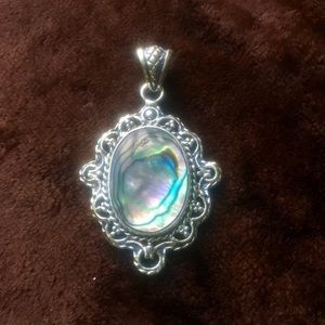 Jewelry - Sterling Silver Abalone Pendant